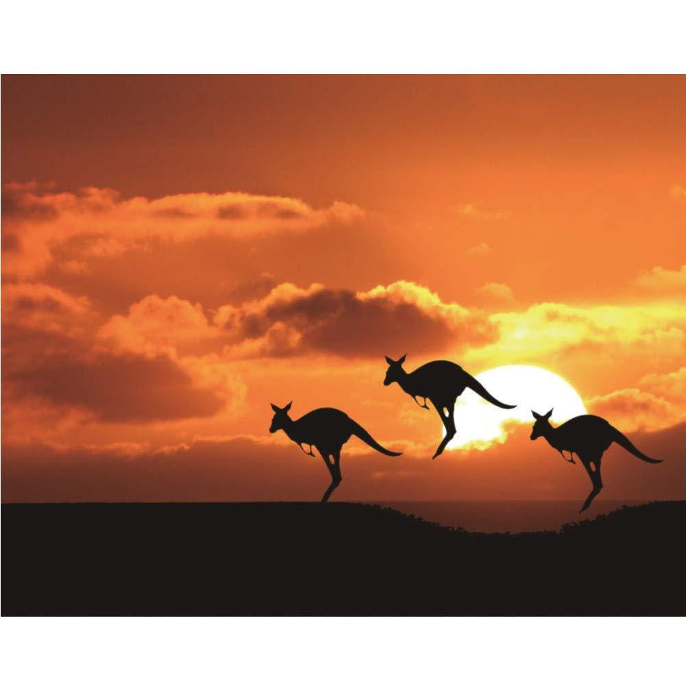 sunnymi 5D Diamond Painting Set ❤️ Sonnenuntergang Fauna DIY Diamant Malerei Stickerei Kreuz Stich Diamond Applikation Dekoration Wohnzimmer Elefant, 25x30cm