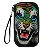 Bigcardesigns Fashion Tiger Passport Holder Travel Wallet Wrist Shoulder Strap