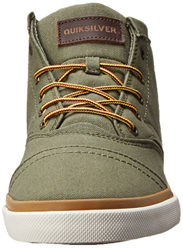 Quiksilver Mens Heyden Canvas Mid Top Shoe Green/Yellow/White lMTcfFvrA5