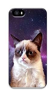 iPhone 5 5S Case Grumpy Space Cat 3D Custom iPhone 5 5S Case Cover
