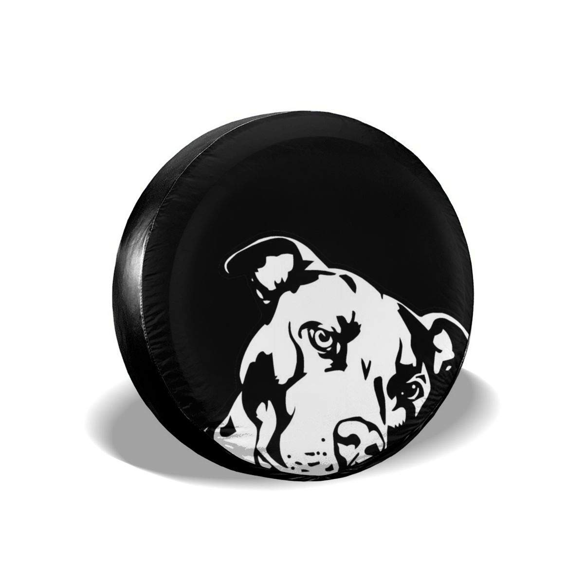 Kejbr Spare Wheel Cover Black and White Dog Drawing Universal Fit Spare Tire Cover Waterproof Keeps Dirt Rain and Sun Away from Your Spare Tire