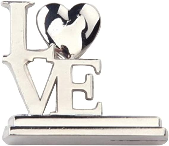 Happyyami 12 Piezas Portafotos con Pinza de Metal Soportes Número de Mesa Diseño de LOVE Portanota de Mesa Boda (Plata): Amazon.es: Hogar