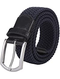 """Men's Stretch Woven 1.3"""" Wide Elastic Braided Belts"""