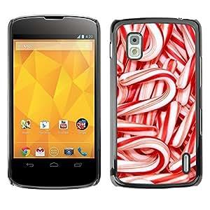 YOYO Slim PC / Aluminium Case Cover Armor Shell Portection //Christmas Holiday Red Candy 1120 //LG Google Nexus 4