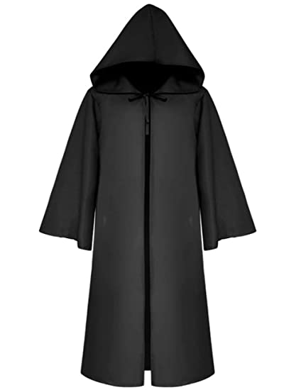 9e2817599ca Jila Men    Kids Tunic Hooded Robe Cloak Knight Gothic Fancy Dress  Halloween Masquerade Cosplay Costume Cape