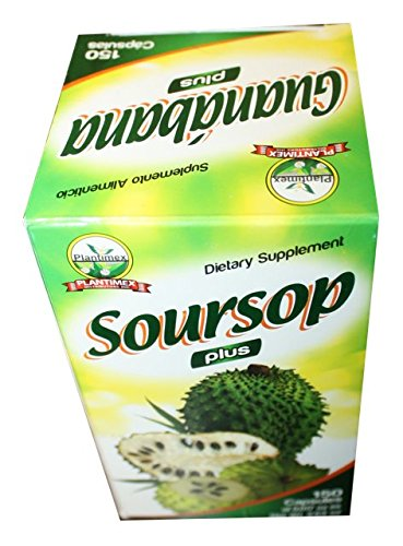 Amazon.com: Soursop Plus Capsules 150 ct. 500mg/ Capsulas de Guanabana: Health & Personal Care