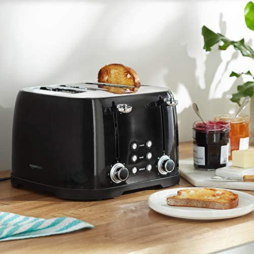 Amazon Basics 4-Slot Toaster, Black