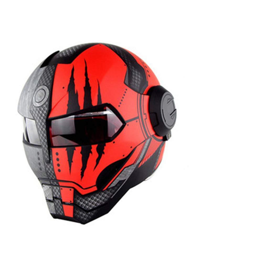 オートバイヘルメット オフロードオートバイレーシングヘルメット フルフェイスダンピング 耐久性 モータースポーツヘルメット 多色選択 快適 B07QWTBTKB Large|カラー3 カラー3 Large