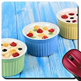 fruit up yogurt - Liili Suqare Mousepad 8x8 Inch Mouse Pads/Mat Delicious yogurt with fruit on table close up Image ID 21806674