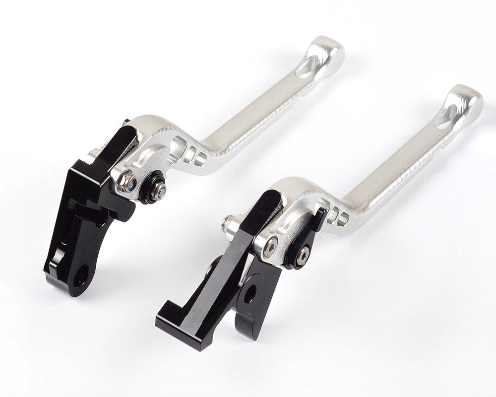 Tencasi Rouge CNC 3D Longue Reglable Levier dembrayage de Frein pour SFV650 Gladius 2009-2015