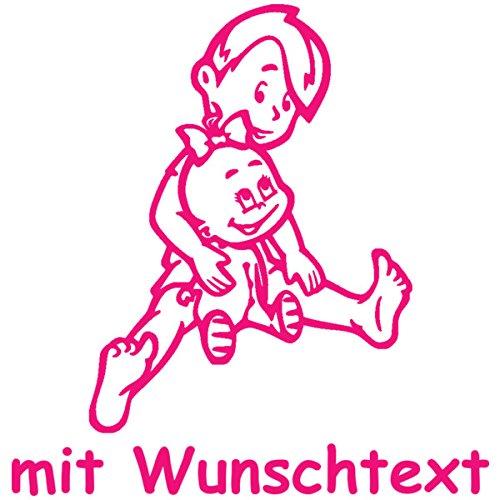 16 cm Babyaufkleber Autoaufkleber f/ür Geschwister mit Wunschtext Motiv G8-JM