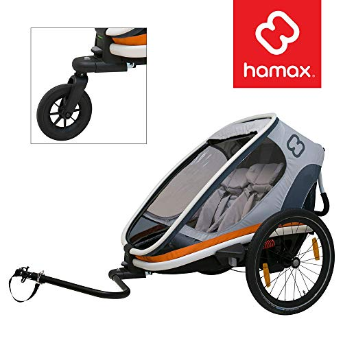 Hamax Outback Multi-Sport Child Bike Trailer + Stroller (Jogger Wheel Sold Separately) (Two Seats