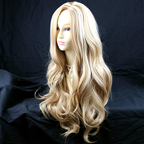 Womens Costume Wigs Uk (Fabulous Long Wavy Honey Blonde mix Ladies Wigs UK by Wiwigs)
