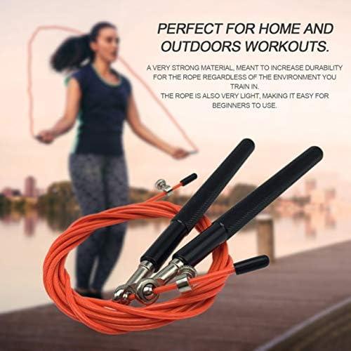 3 Meter Metallkugellager Einstellbare Trainingsgeschwindigkeit Springseil Sport Skipping Fitnessgeräte Home Gym BCVBFGCXVB (schwarz & orange