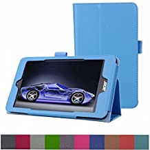 """Acer Iconia ONE 7 B1-750 Case,Mama Mouth PU Leather Folio 2-folding Stand Cover with Stylus Holder for 7"""" Acer Iconia ONE 7 B1-750 Android Tablet,Light Blue"""