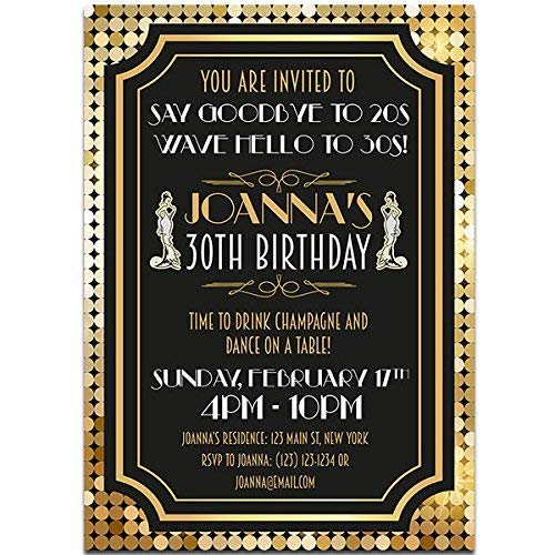 Amazon Com Art Deco Goodbye Roaring Birthday Party