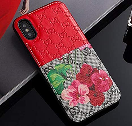 I Phone7 Plus/8 Plus Case   New Elegant Luxury Pu Leather Classic Style Protect Cover Case Compatible Apple I Phone7 Plus/8 Plus Only(Red Flower) by Gucity