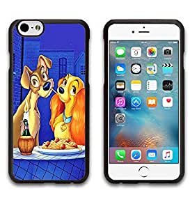 Iphone 6 6s Funda Funda Case Love Lady and the Tramp Print Photo Hard Back Shell Back Skin for Gilrs Snap on IPhone 6 6s (4.7 inch)