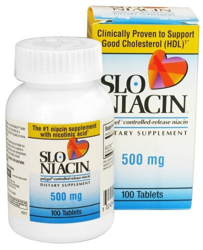 Slo-Niacin 500 mg 450 Tablets , - Slo Polygel Controlled Niacin