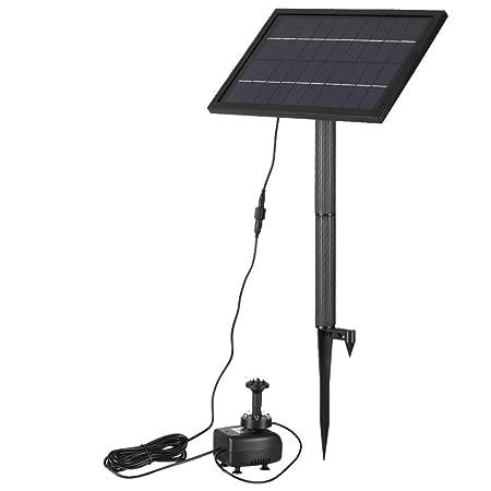 200L//H Pompa Acqua Con Alimentazione Pannello Solare Giardino Fontana//Stagno IT