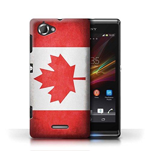 Etui / Coque pour Sony Xperia L/C2105 / Canada/canadien conception / Collection de Drapeau