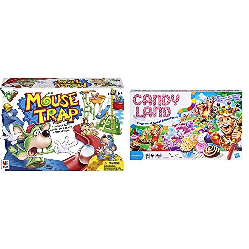 Hasbro Gaming Mouse Trap Board Game for Kids Ages 6 and Up (Amazon Exclusive) & Gaming Candy Land Kingdom of Sweet Adventures Board Game for Kids Ages 3 & Up (Amazon Exclusive) (Candyland The Kingdom Of Sweets Board Game)