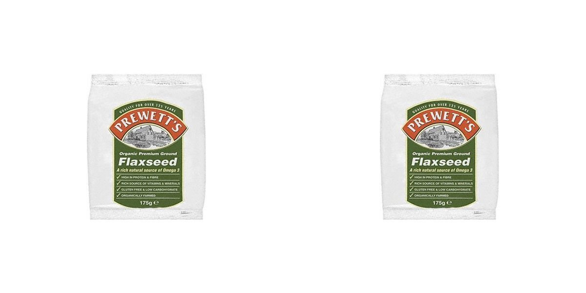 (2 PACK) - Prewetts Premium Ground Flaxseed| 175 g |2 PACK - SUPER SAVER - SAVE MONEY by Prewetts Health Foods Ltd