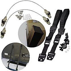 MOT Global Baby Safety Anti-Tip TV Straps + Steel Furniture Anchor Kit (Mounting Hardware Included)