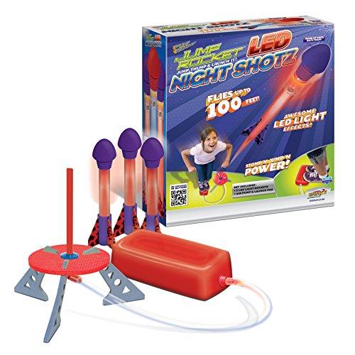 GeoSpace Jump Rocket Led Night Shotz - Jump Pump, Launcher & Light-Up Flying Foam Rockets by GeoSpace