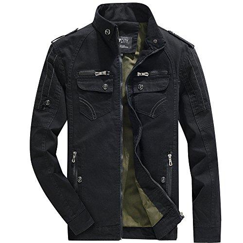 Outerwear Men's Jacket Coat Casual Black Tops 0w8IAwf
