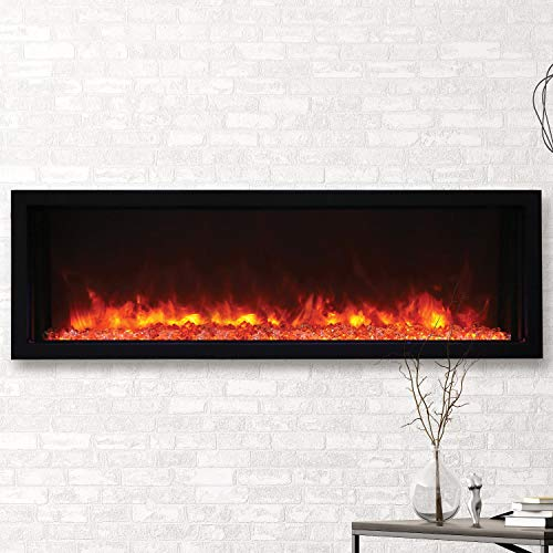 Cheap Amantii 50? Extra Slim Indoor or Outdoor Electric Built-in only Electric Fireplace with Black Steel Surround Black Friday & Cyber Monday 2019