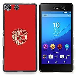 """Qstar Arte & diseño plástico duro Fundas Cover Cubre Hard Case Cover para Sony Xperia M5 E5603 E5606 E5653 (Spartan Academia"""")"""