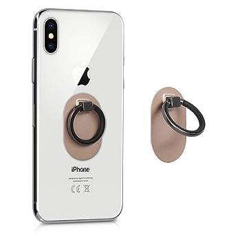 kwmobile Anillo Universal para móvil - Soporte Giratorio 360 Grados con Anillo para Smartphone - Sostenedor