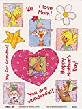 Suzy's Zoo Mother's Day Multiple Character Sticker 6 inches by 4.5 inches
