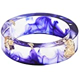 Jude Jewelers 8mm Ocean Style Transparent Plastic Resin Wedding Band Cocktail Party Ring (Purple, 8)