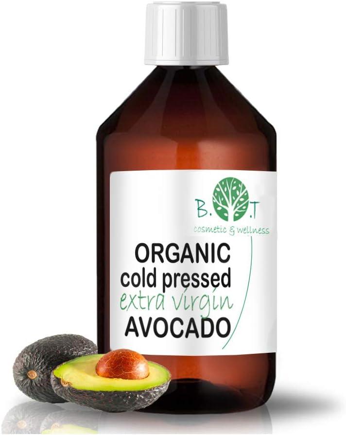 Aceite de Aguacate Bio Aceite de masaje vegetal ecologico Corporal, Pelo, Facial, Aceite Natural Cara prensado en frio Serum cabello organico 100% pure 1000 ml