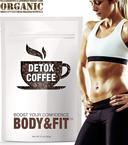 [Upgraded] Detox Coffee with 100% Arabica - Powerful Natural Ingredients, Cleanse and Detox Body, Supports Weight Loss, Fast Results, Great Taste -FDA Certified and Organic (30 Servings)