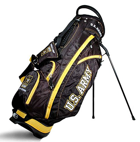 - Team Golf Military Army Fairway Golf Stand Bag, Lightweight, 14-Way Top, Spring Action Stand, Insulated Cooler Pocket, Padded Strap, Umbrella Holder & Removable Rain Hood