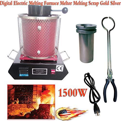 2KG Gold Melting Furnace,1150℃/2102 ℉ Digital Electric Melting Furnace Melter Melting Scrap Gold Silver Casting Refining Precious Metals USA Stock (Best Precious Metal Stocks)