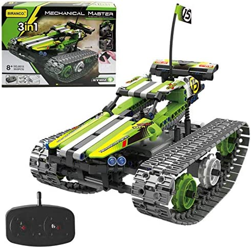 Remote Control Car for Boys – RC Tracked Racer Building Blocks Set Kit, Fun, Educational, Learning, STEM Toys for Kids Age 8, 9, 12, 13 and 14 Year Old Boy Gift Ideas