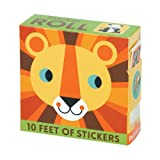 Mudpuppy 10-Foot Animal Sticker Roll – Animals of the World Sticker Roll in Dispenser Featuring Fun Artwork for Ages 3+