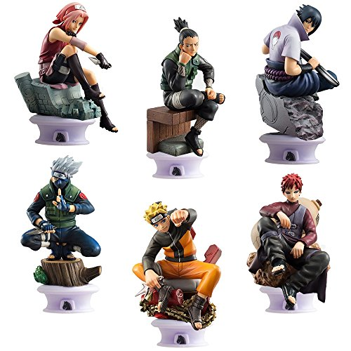 Naruto Action Figures & Toy Playsets: 6 PCS, 2.7 - 3.5IN Tall