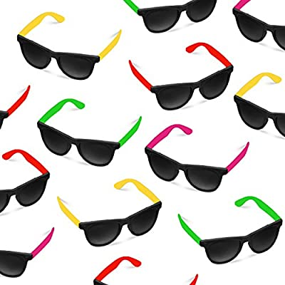 36 Pack 80's Style Neon Party Sunglasses - Fun Gift, Party Favors, Party Toys, Goody Bag Favors: Toys & Games