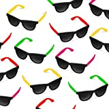 24 Pack 80s Style Neon Party Sunglasses - Fun Gift, Party Favors, Party Toys, Goody Bag Favors