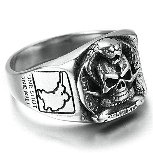 Stainless Steel Fashion Men's Rings Punk Retro Ring - 9