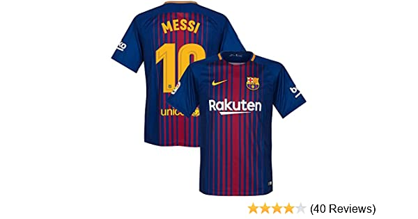 Amazon.com : Nike Barcelona Home Messi Jersey 2017/2018 (Official Printing) : Sports & Outdoors