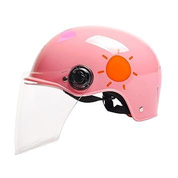 Amazon.es: Cascos Cascos de moto para niños/coches eléctricos Cascos de niños y niñas/cascos de cuatro estaciones para niños (Color : Pink)