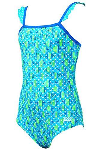 Zoggs Swimming Costume Girls (Zoggs Girls Fish Fun Frill Classicback Costume 1Y)