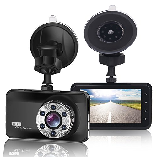 ORSKEY Dash Cam 1080P Full HD Car DVR Dashboard Camera Video Recorder in Car Camera Dashcam for Cars 170 Wide Angle WDR with 3.0