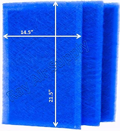 RAYAIR SUPPLY 16×24 ARS Rescue Rooter Air Cleaner Replacement Filter Pads 16×24 Refills (3 Pack)
